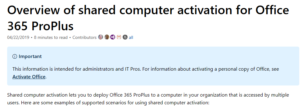 Overview of shared computer activation for Office 365 ProPlus - Blog